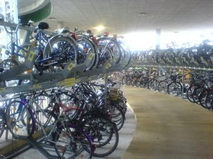 Bike parking in Freiburg Germany COPYRIGHT P FAIRLEY