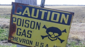 Sour Gas: While asphixiation by CO2 is a theoretical risk of carbon sequestion, sulfurous emissions pose a known hazard to neighbors of many oil and gas wells