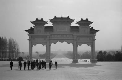 Genghis is Gone: Sites in Inner Mongolia such as this mausoleum celebrate the region's nomadic warrior roots, but Chinese officials have forced Khan's descendents to settle down