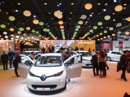 Electrifying? At the 2012 Paris auto show Renault was selling its new Zoe electric hatchback which, at 20,700 euros, was going cheap for a battery-powered car
