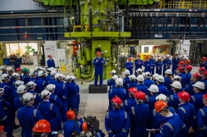UK prime minister David Cameron at Hinkley Point